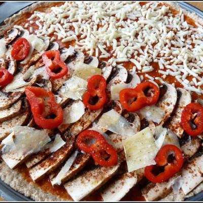 """Whole-grain pizza (""""au levain"""")"""