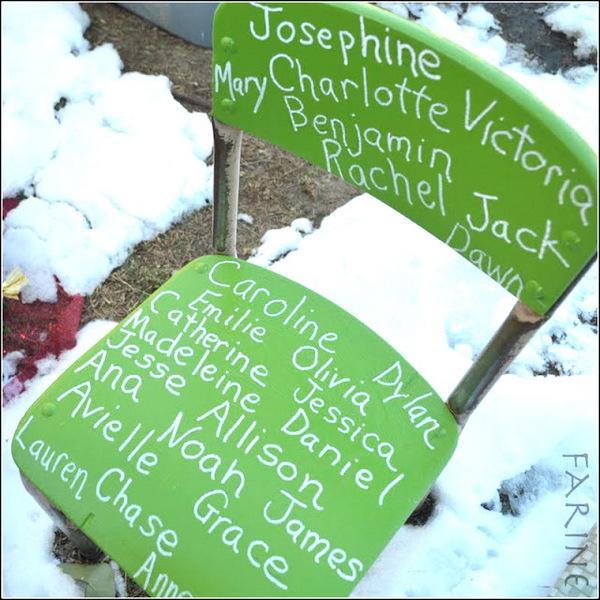 Green chair - Newtown memorial
